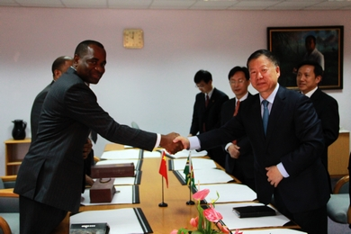 Hon. Prime Minister Roosevelt Skerrit met with Chinese Communist Party Delegation