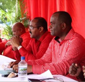 OECS chairman and prime minister of Dominica congratulates newly sworn in Antigua Cabinet 8