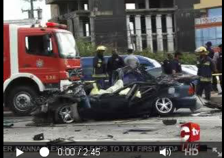 Horrific Trinidad highway accident claims family of three 3