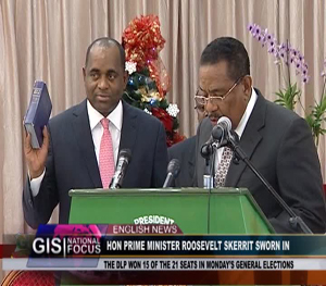 Roosevelt Skerrit Sworn-in Dominica 8th Prime Minister