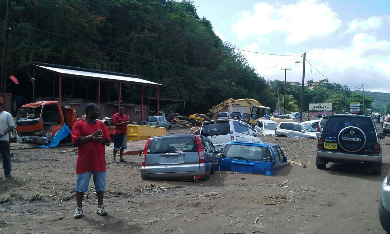 tropic storm Erica damage dominica
