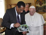 Pope Francis meets with the President of Dominica