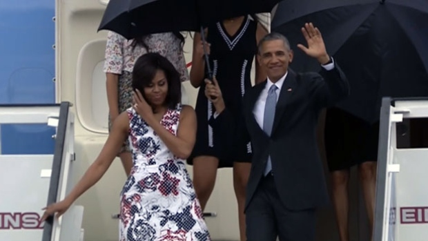 U.S. President Barack Obama arrived in Cuba on a historic visit on Sunday