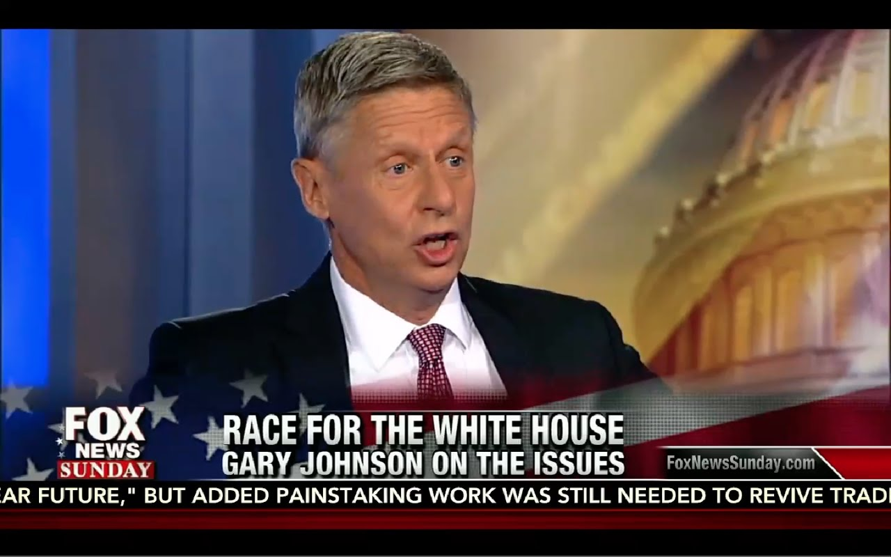 Chris Wallace Interviews Gary Johnson: Fox News Sunday 8/28/16 7
