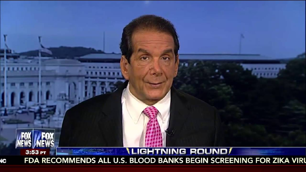 Charles Krauthammer Makes Fun of Bernie Sanders! 8/26/16 8