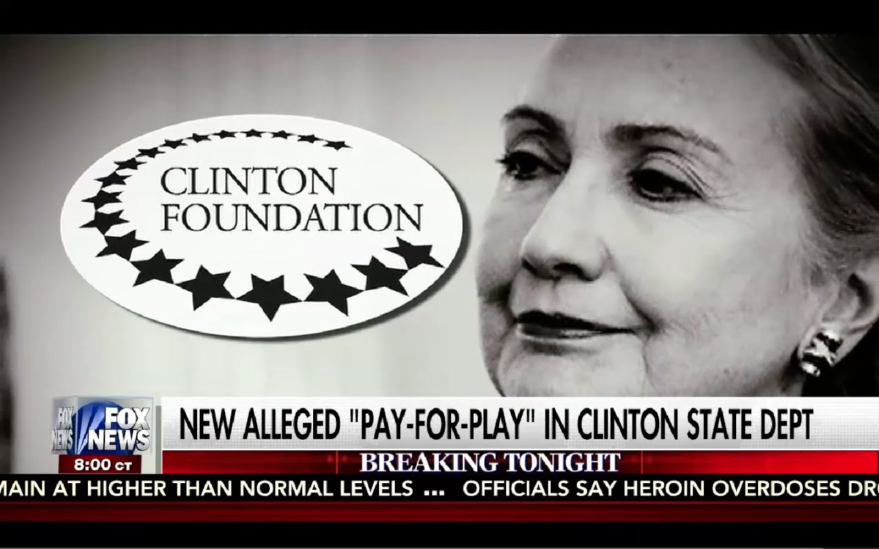 Kelly File 8/29/16 FULL: New Hillary Emails Prove Pay to Play in Clinton State Department! Corrupt! 1