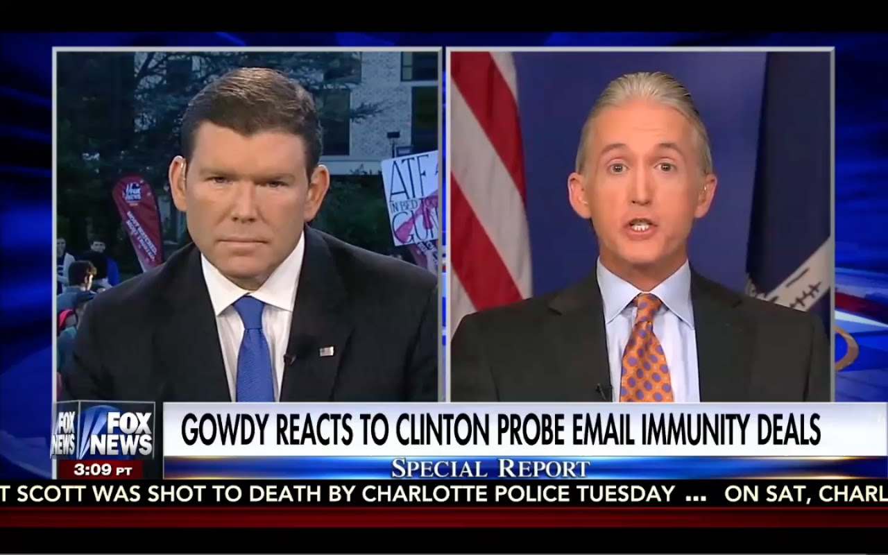 Trey Gowdy: It Was a FULL BLOWN Hillary Clinton Cover Up! 9/25/16 FBI, Obama, DOJ! 4