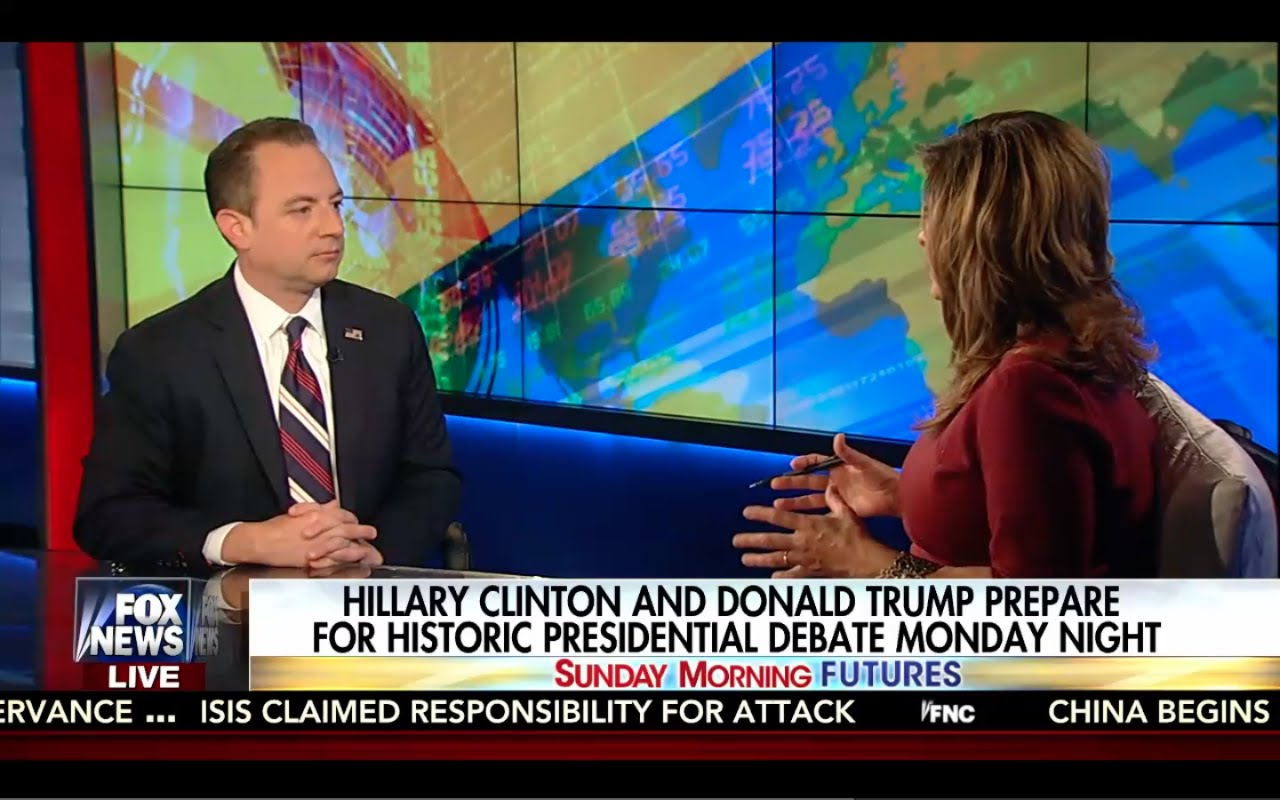 Trump Gaining Electorates! Reince Priebus Interview w/ Maria Bartiromo 9/25/16 9
