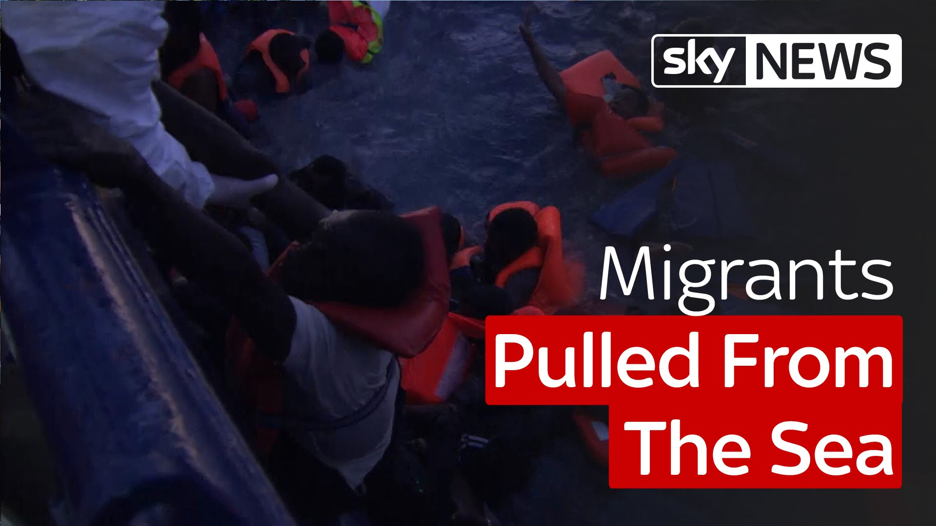 Migrants Pulled From The Sea 8