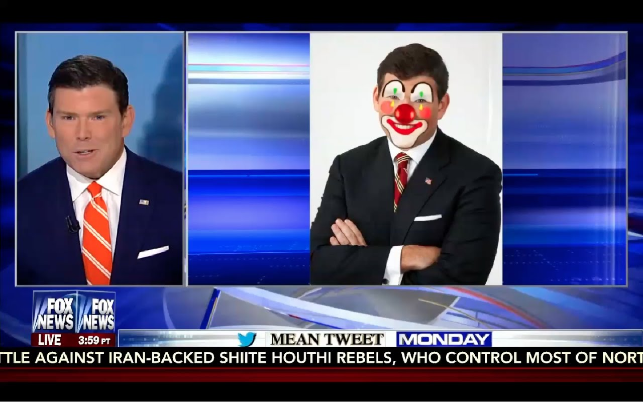 Bret Baier Shows Mean Tweets About Him! Funny & Good Sense of Humor! 4