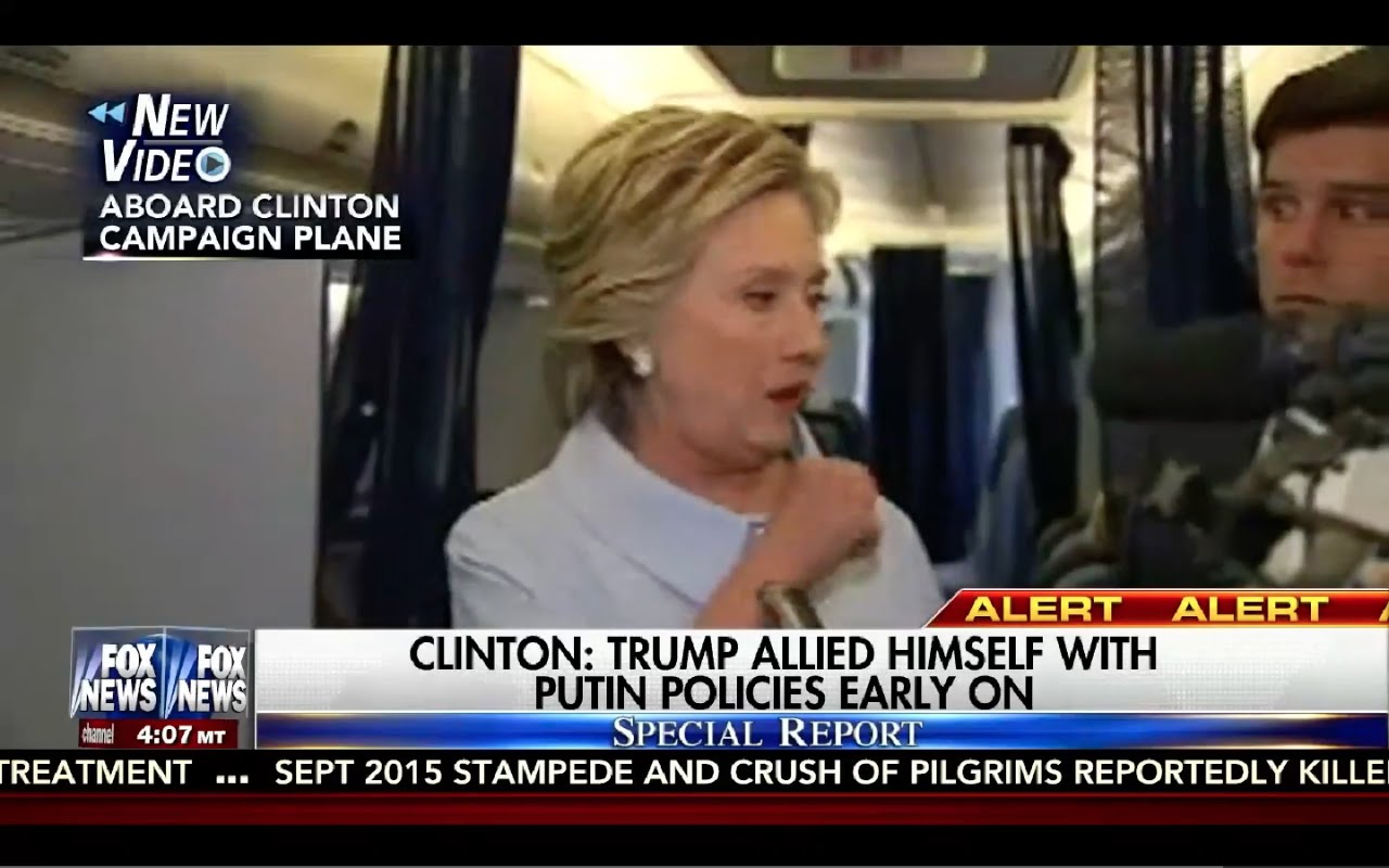 Hillary Clinton Coughing Attack on Plane 9/5/16: Press Conference on Plane 10