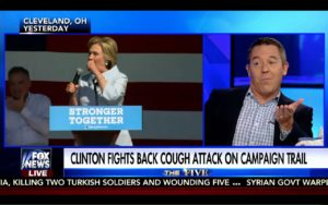 Greg Gutfeld Makes Fun of Hillary Clinton Coughing Attacks! Funny! 9/6/16 1