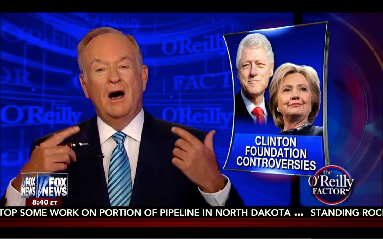 O'Reilly Factor 9/6/16 FULL: Bill Clinton Made $18 Million from Donor to Foundation, Trump Interview 6