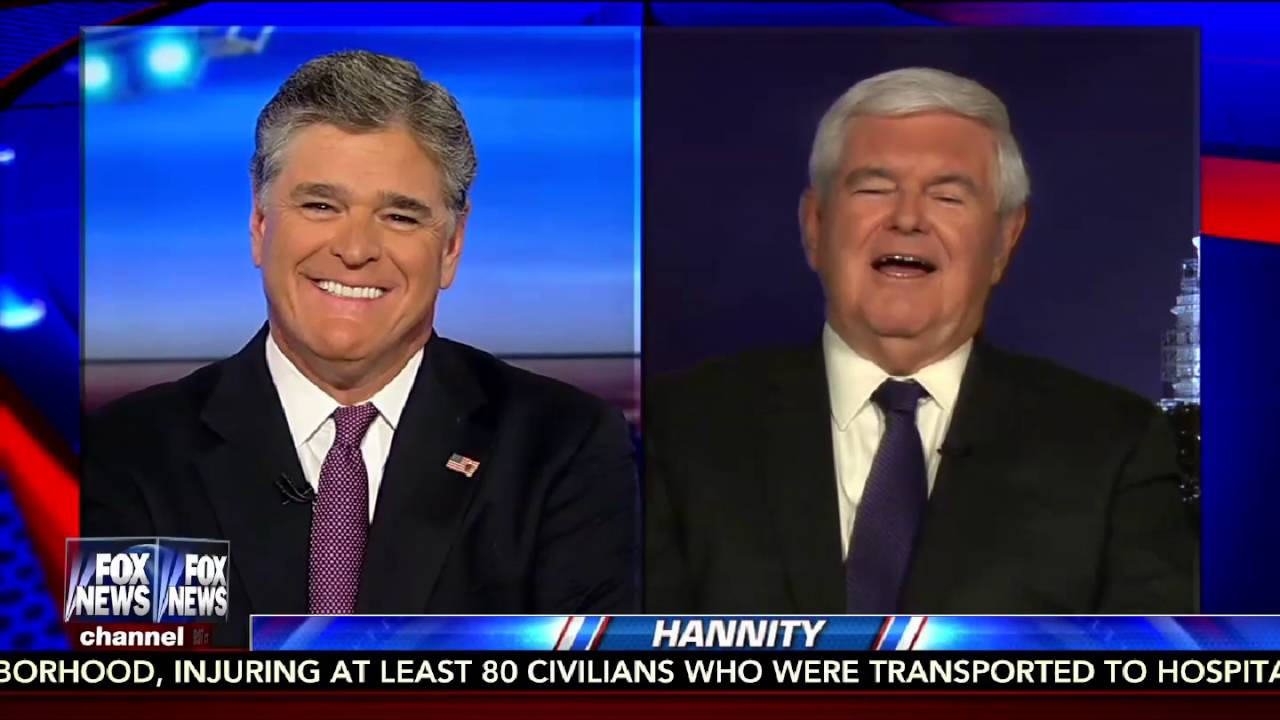 Hannity 9/6/16 FULL: Julian Assange Interview, Hillary's Lies, FBI, Newt Gingrich 10