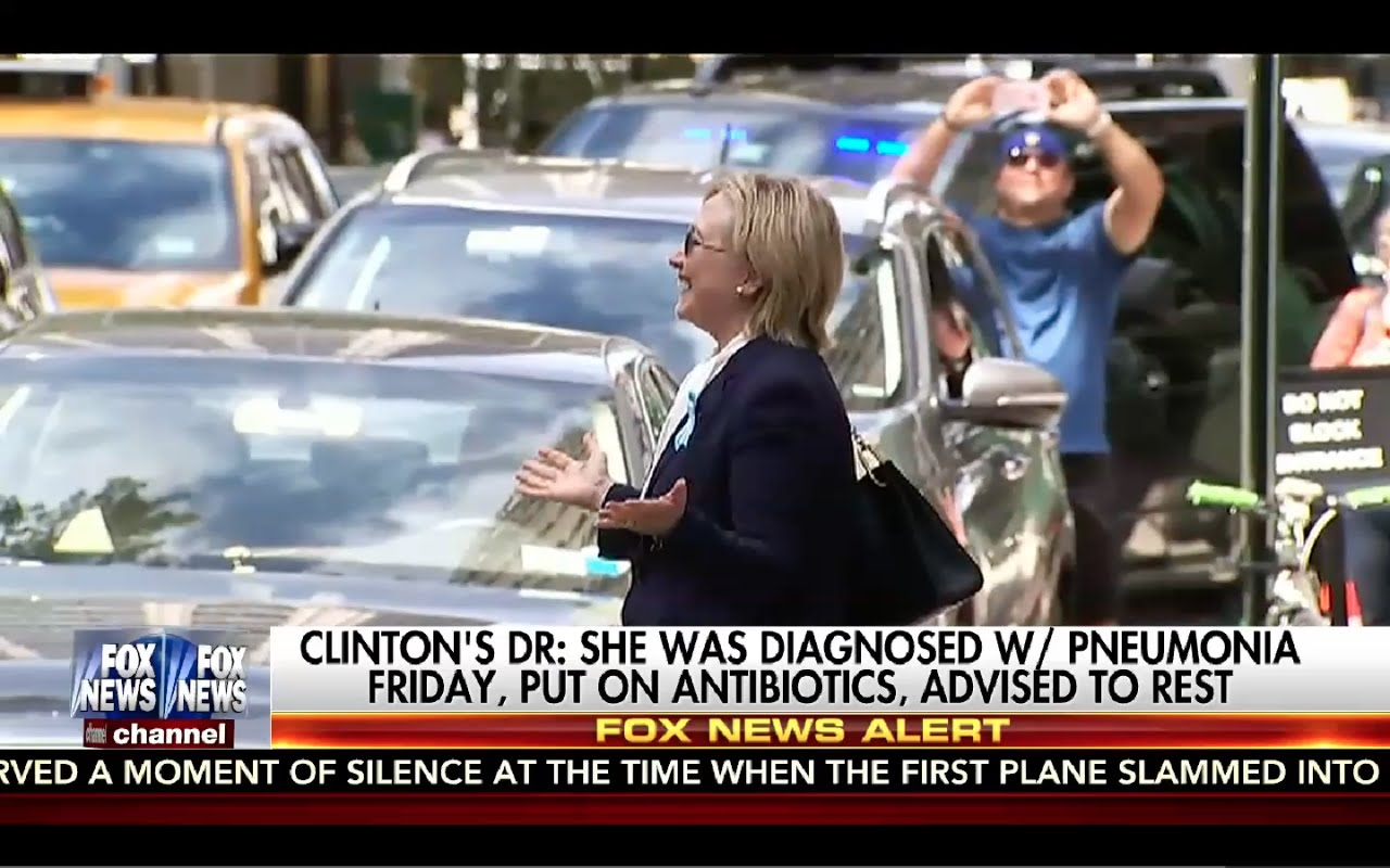 Hillary Clinton PASSES OUT & Admits She Has Pneumonia! 9/11/16 4