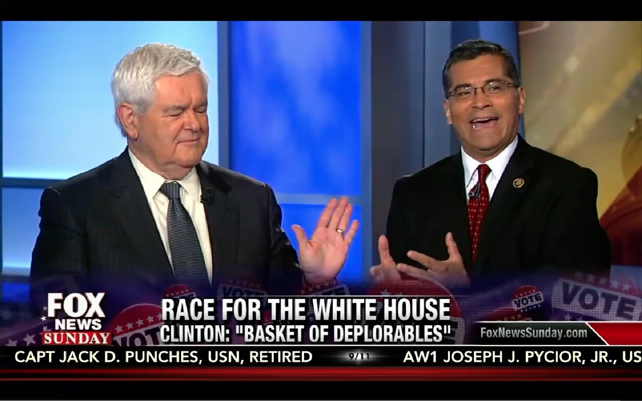 Newt Gingrich battles on Hillary Clinton Crimes, Lies, Failures & Hypocrisy! Fox News Sunday 9/11/16 10