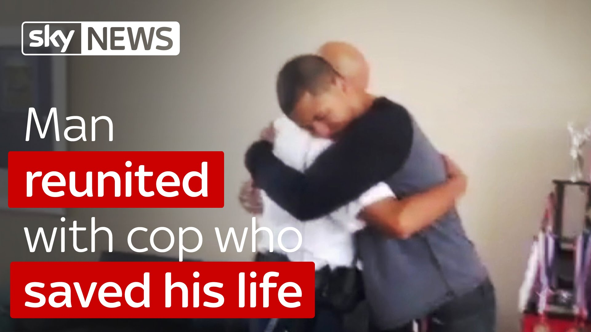 Man Reunited With Cop Who Saved His Life 2