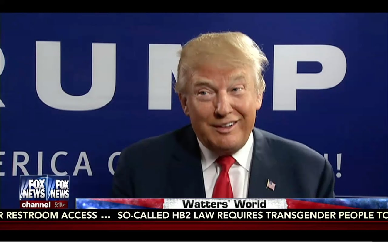Donald Trump Interview: Watters World 9/3/16 4