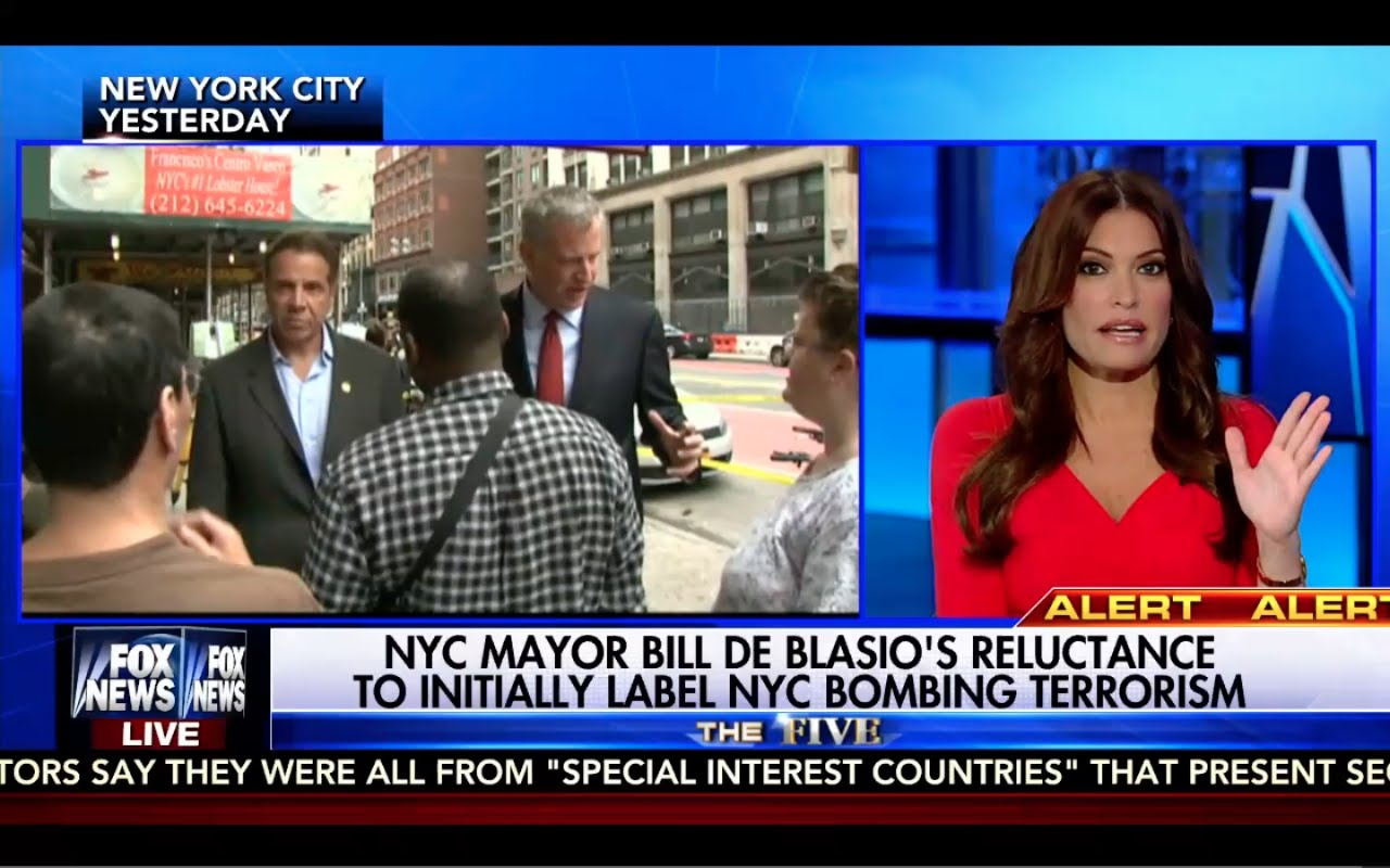 Kimberly Guilfoyle Calls Mayor Bill de Blasio a Coward! The Five 9/19/16 3