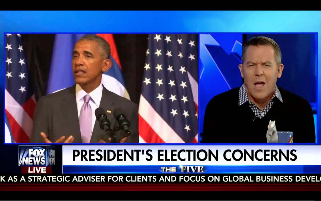 Greg Gutfeld Destroys Obama! Obama Scared of Trump! 9/20/16 1