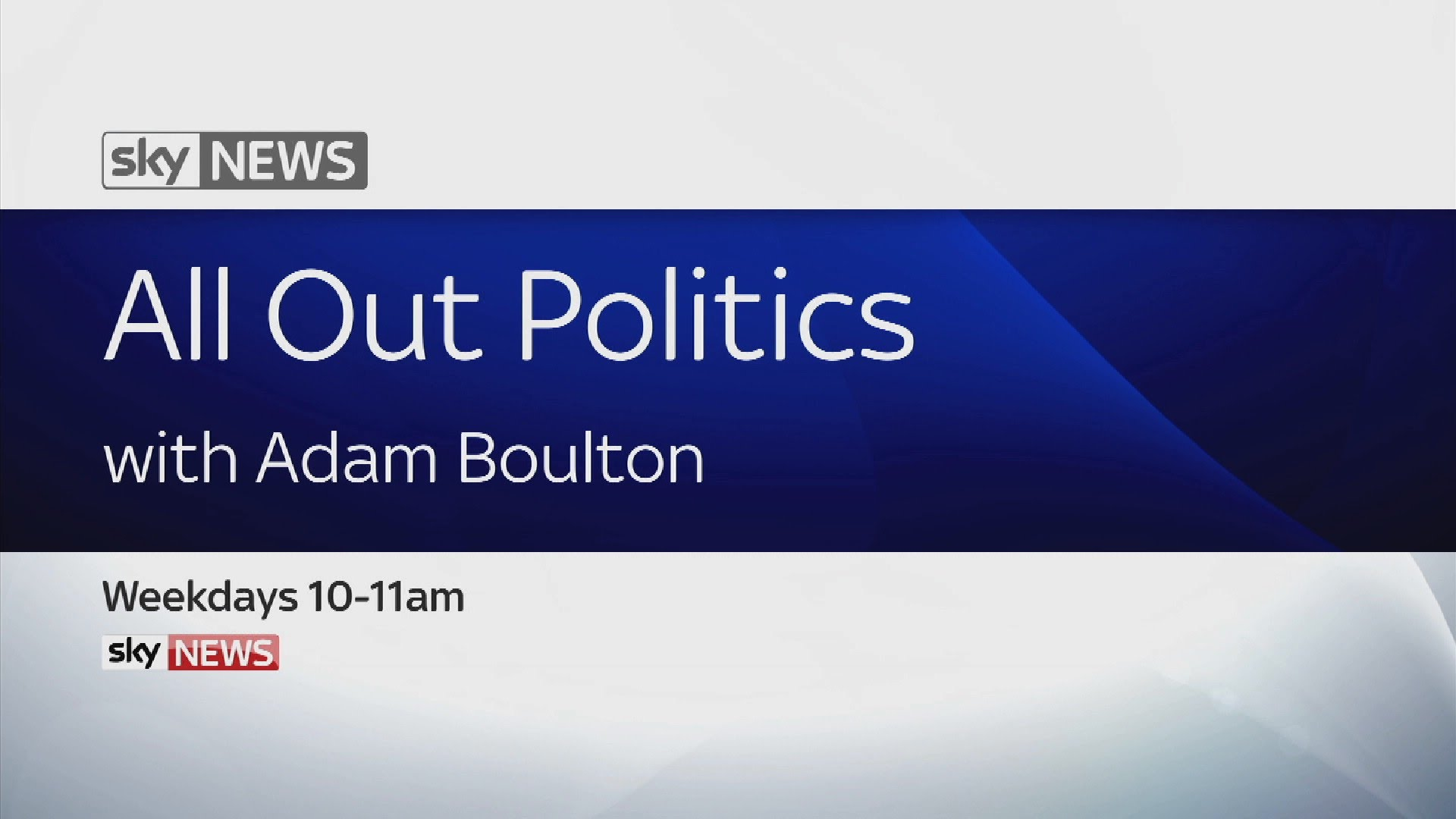All Out Politics With Adam Boulton 12