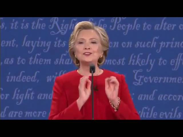 Hillary Clinton Tries to be Cute but Can't Explain Tax Plan! Funny! 9/26/16 Presidential Debate 1