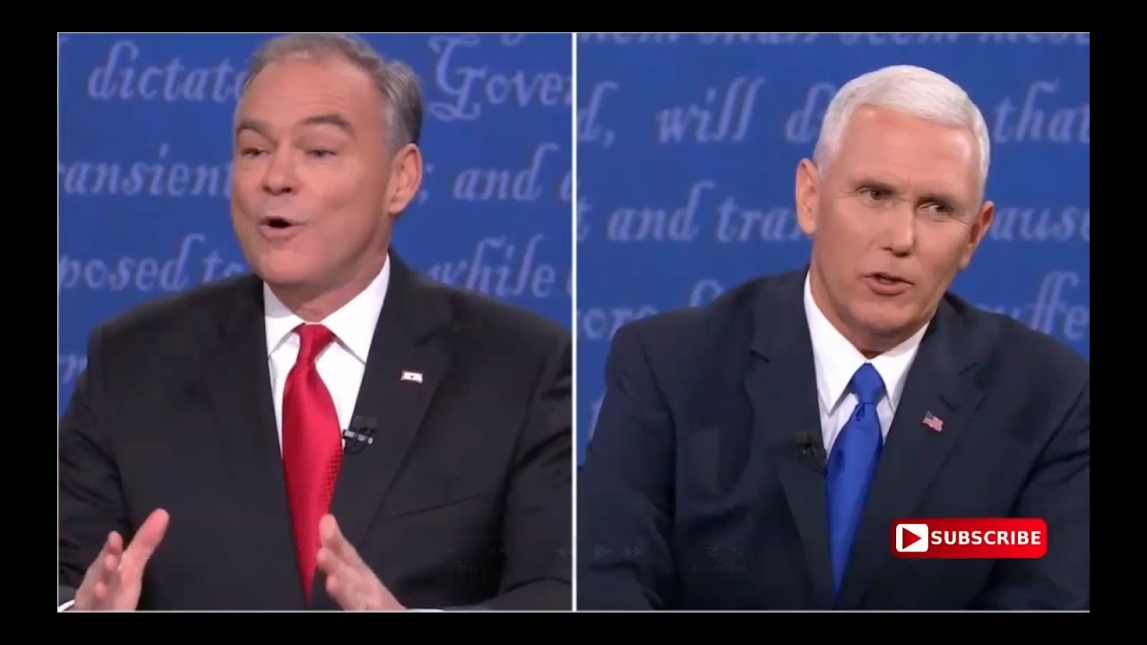 Tim Kaine Nervous As Hell at Vice Presidential Debate! 10/4/16 6