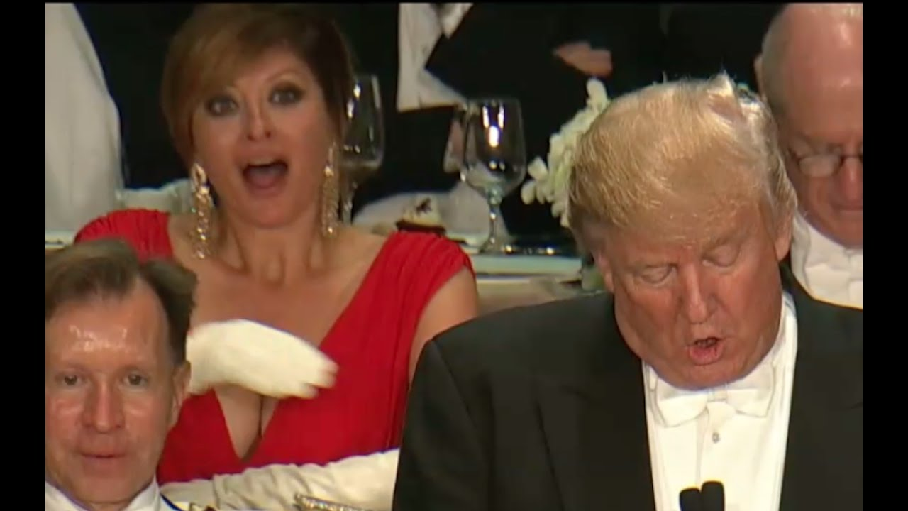 Donald Trump UTTERLY DESTROYS Hillary Clinton! Al Smith Dinner Speech 2016 14