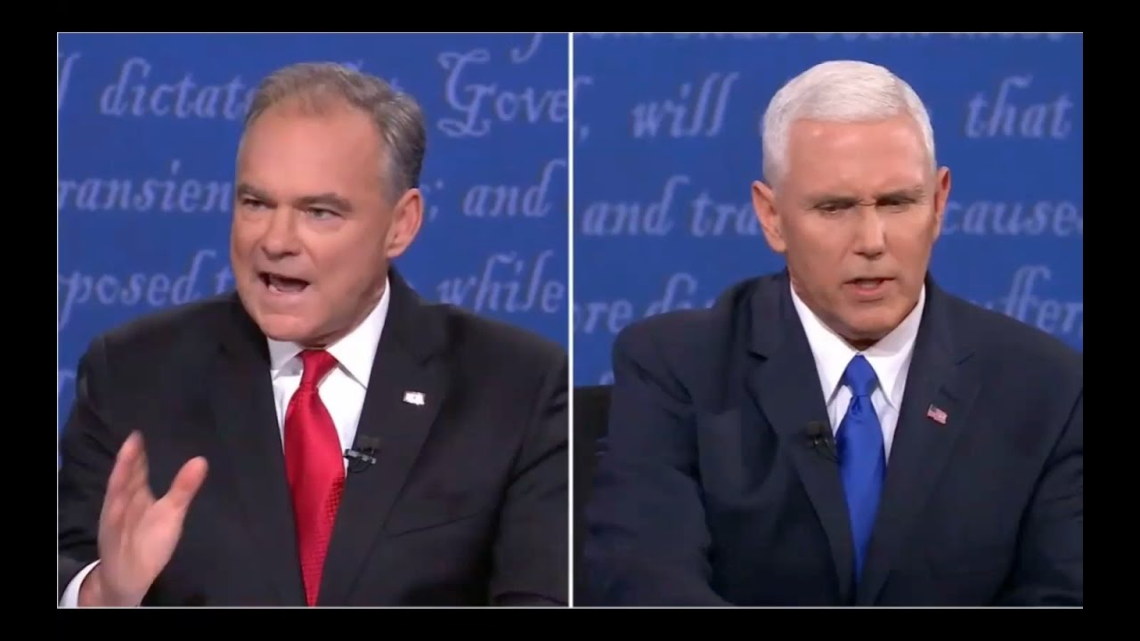Tim Kaine Tries to Block Hillary Corruption Talk by Mike Pence! 10/4/16 3