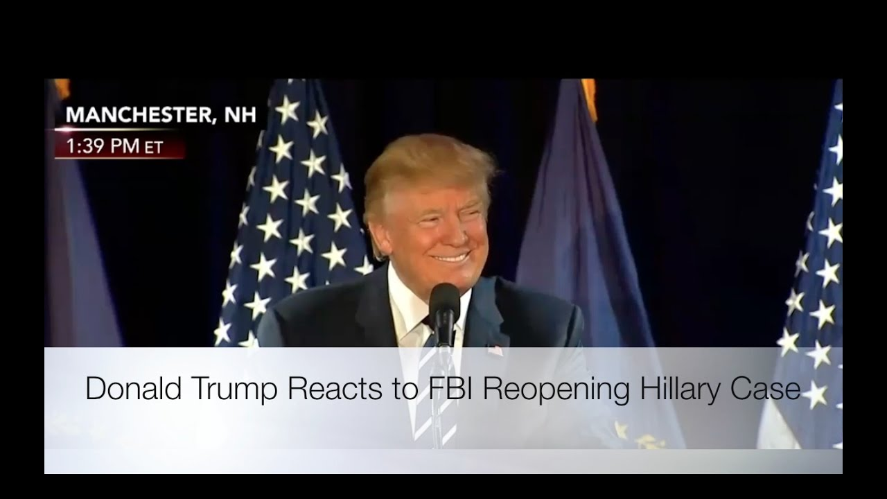 Donald Trump Reacts to FBI Reopening Hillary Case! 10/28/16 10