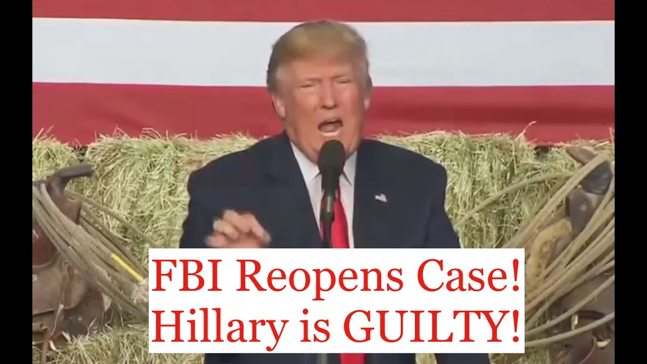 Donald Trump Prosecutes Hillary Clinton After FBI Reopens Case 10/29/16 8