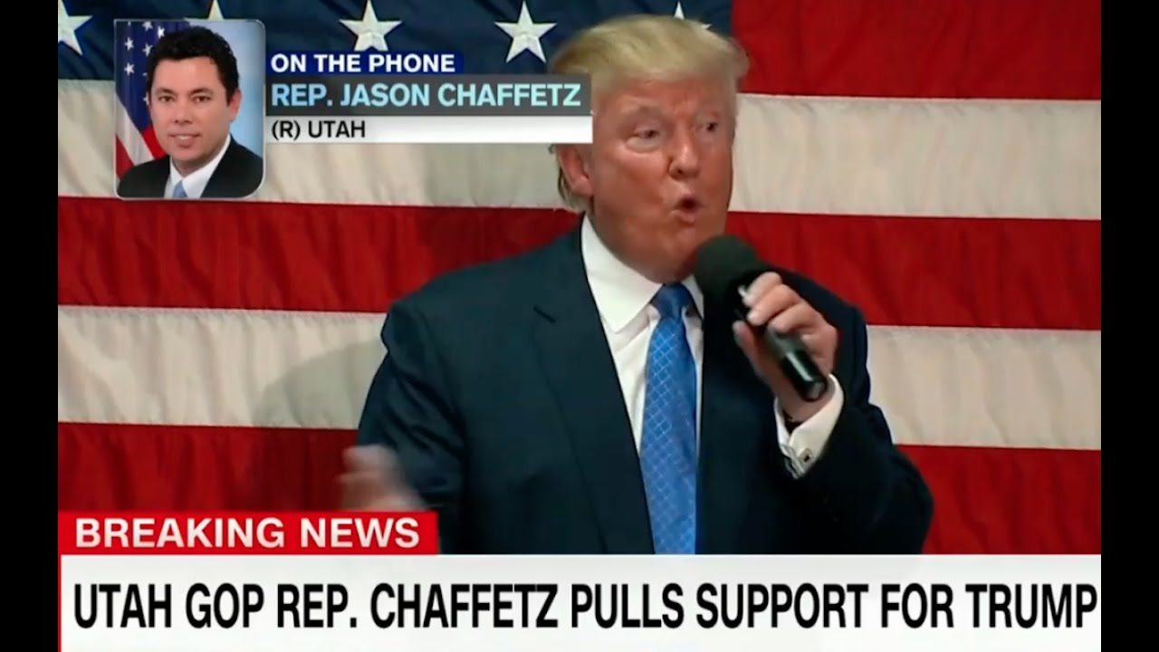 Jason Chaffetz Pulls His Support for Donald Trump! 10/7/16 8