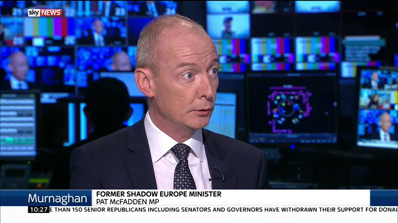 Former Shadow Europe Minister Pat McFadden on Labour reshuffle and Brexit 13