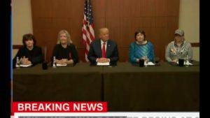 Trump Brings Bill Clinton Accusers to Presidential Debate! 10/9/16 5