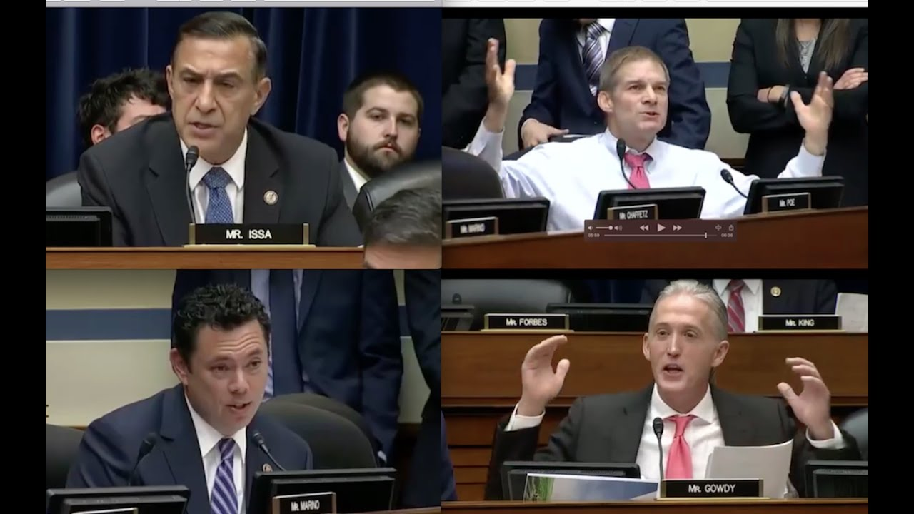 Congressmen Issa, Jim Jordan, Trey Gowdy, Chaffetz PISSED at James Comey! 2