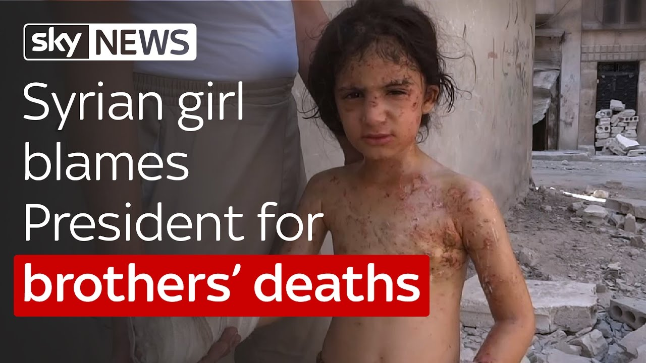 Syrian girl blames President for brothers' deaths 9