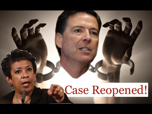 FBI James Comey Breaks FREE from Loretta Lynch & DOJ! 10/29/16 3
