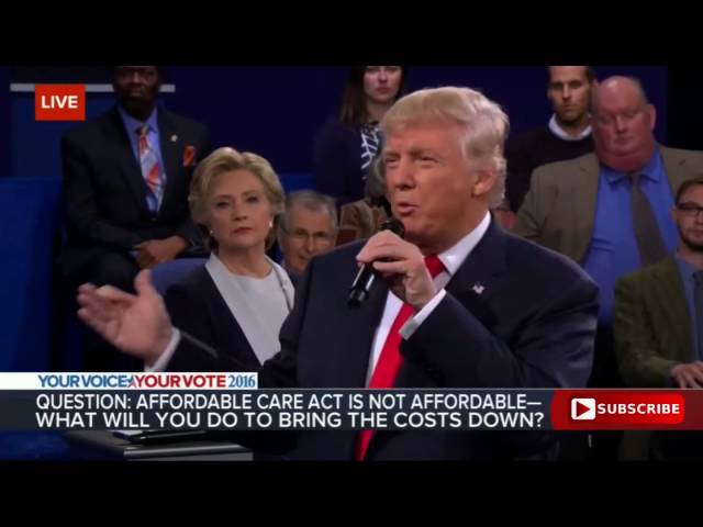 Donald Trump on the Obamacare Disaster 10/9/16: Presidential Debate 6