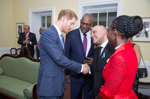 Antigua and Barbuda's minister of tourism welcomes Prince Harry 2