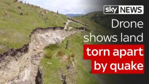 Drone shows land torn apart by New Zealand quake 6