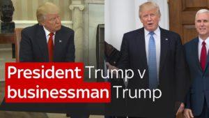 President Trump v businessman Trump 2