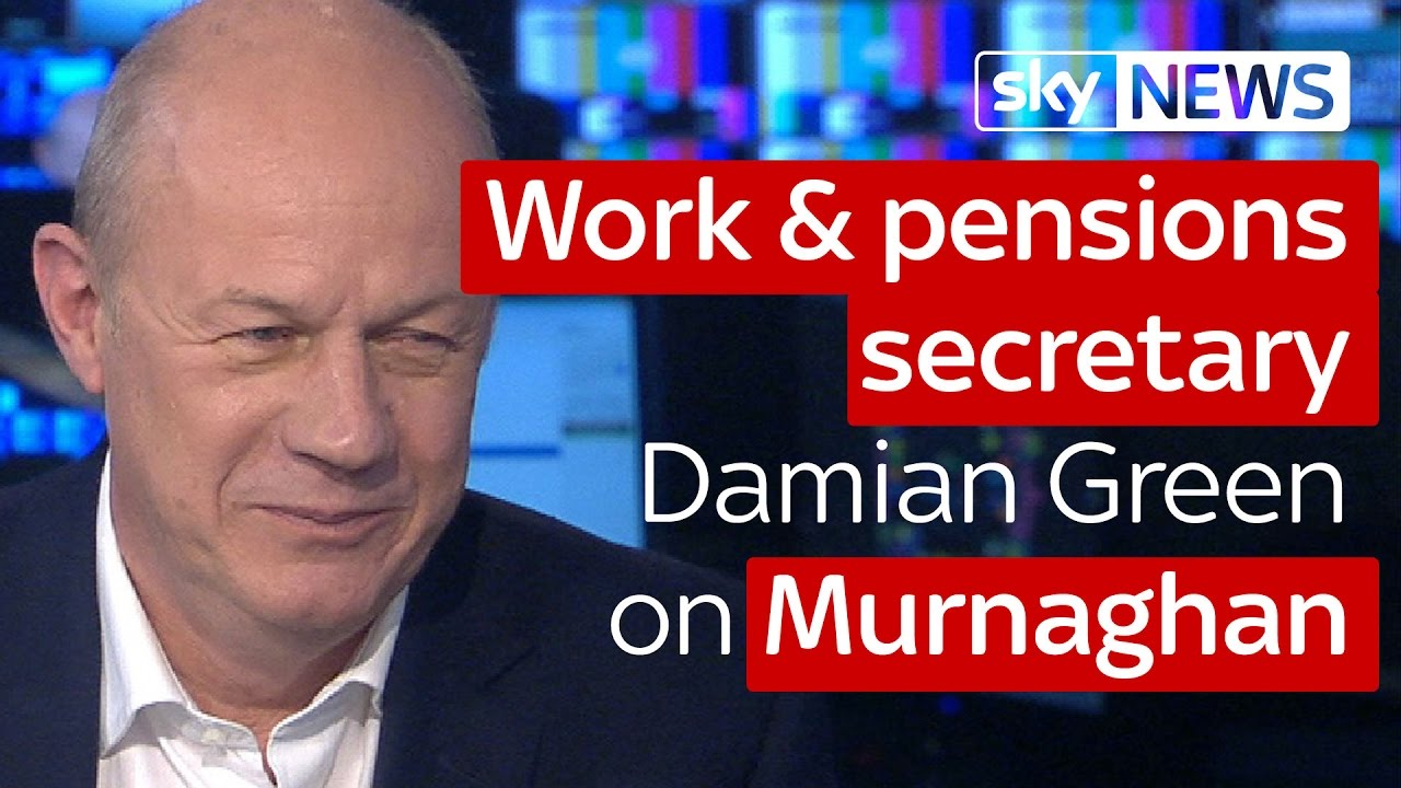 Work and pensions secretary Damian Green on Murnaghan 8