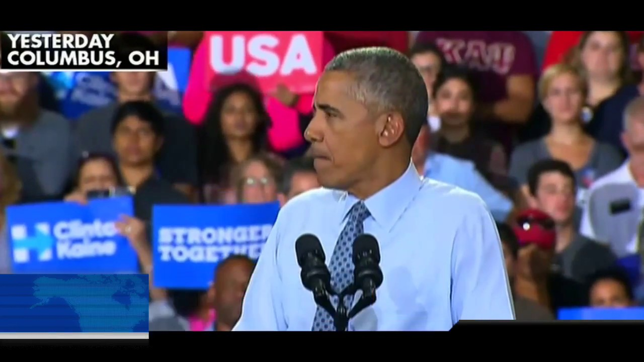 Obama Stutters & Mumbles Trying to Support Hillary! 11/1/16 1