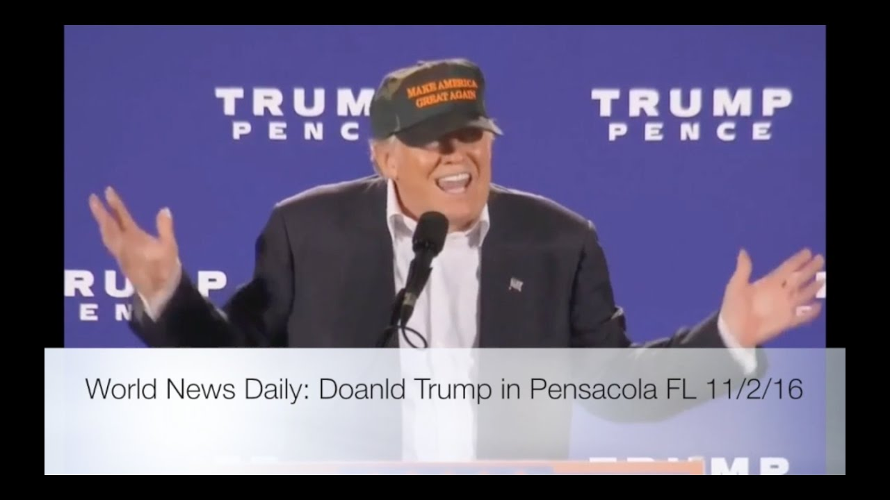 Donald Trump Speech in Pensacola FL 11/2/16 9