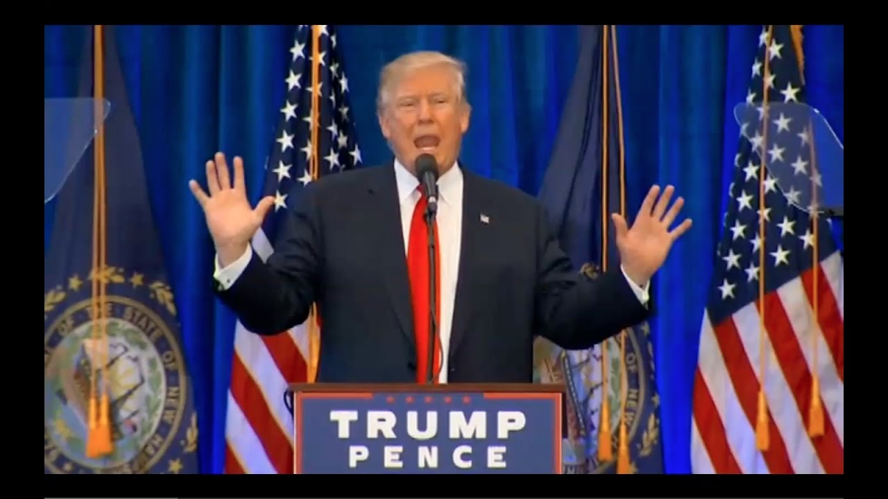 Donald Trump Speech in Atkinson NH 11/4/16 7