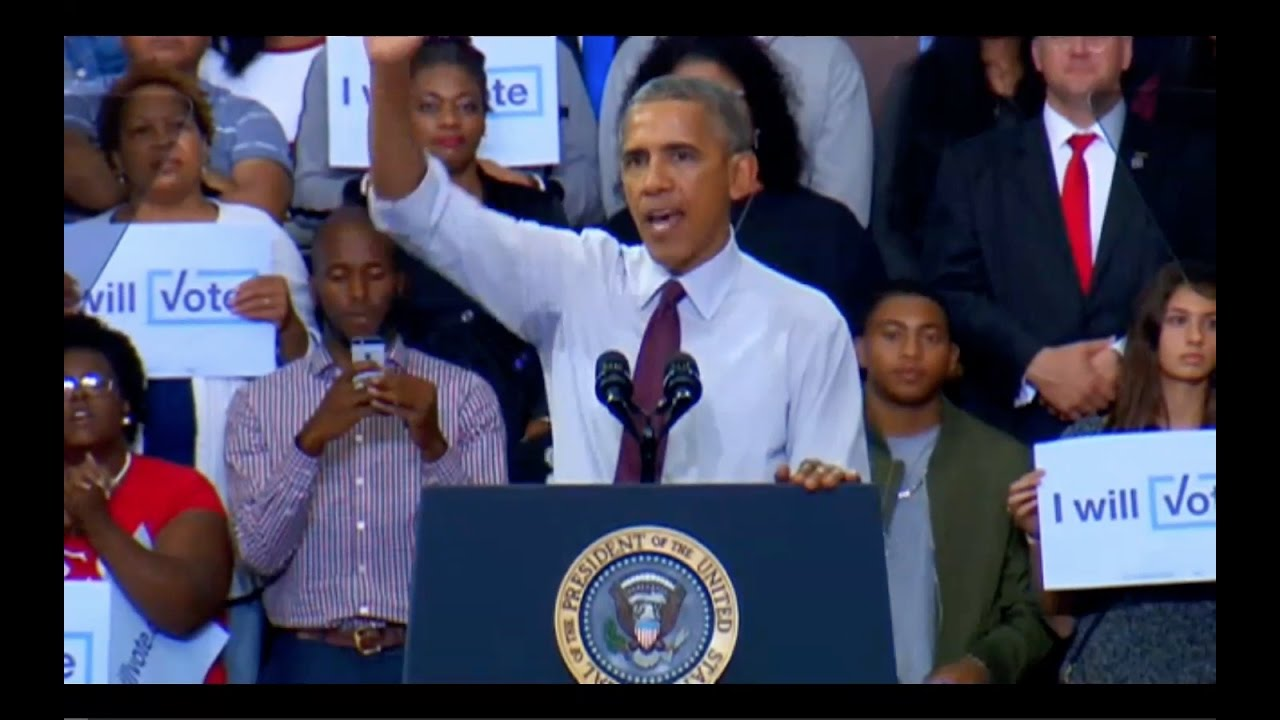 Obama Speech in Fayetteville NC 11/4/16 2