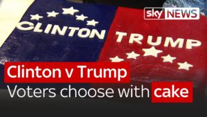 Clinton v Trump: American voters choose with cake 1