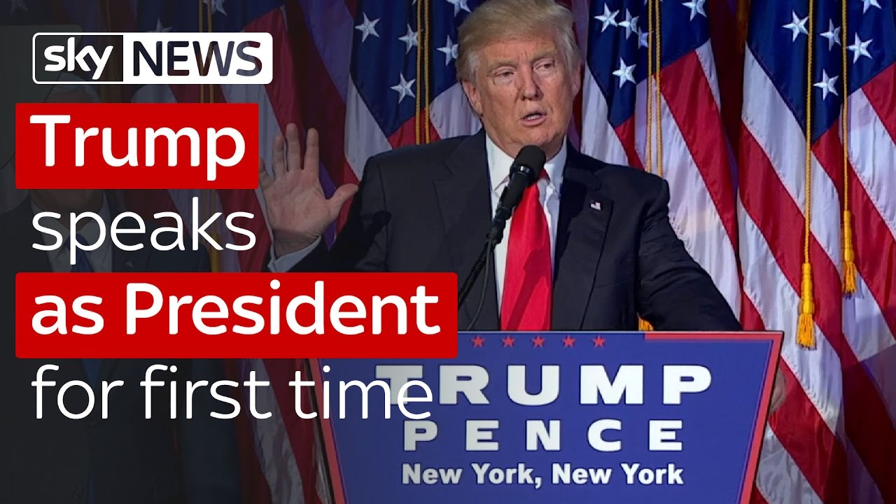 Donald Trump speaks after being elected President of the United States 1