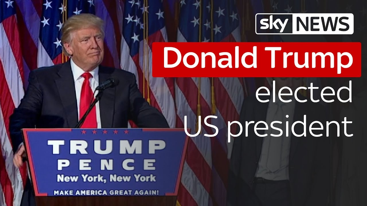 Donald Trump elected US president 3