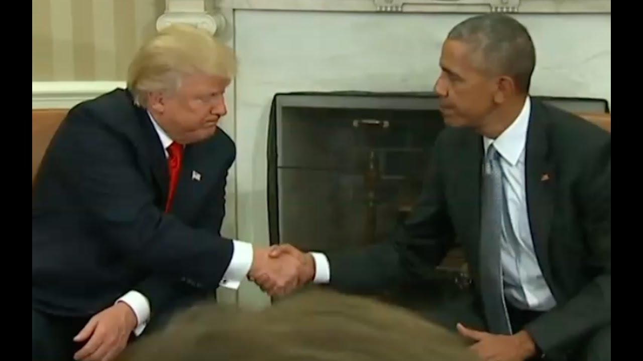 President Trump Meets with President Obama for First Time At White House 11/10/16 8
